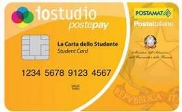 """Servizio """"Carta dello Studente - IoStudio"""": attivazione delle funzionalità Postepay"""